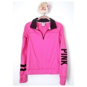 PINK l Pink Heather Quarter Zip Pullover